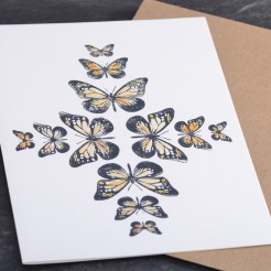 Karte-Schmetterlingsornament-Orange