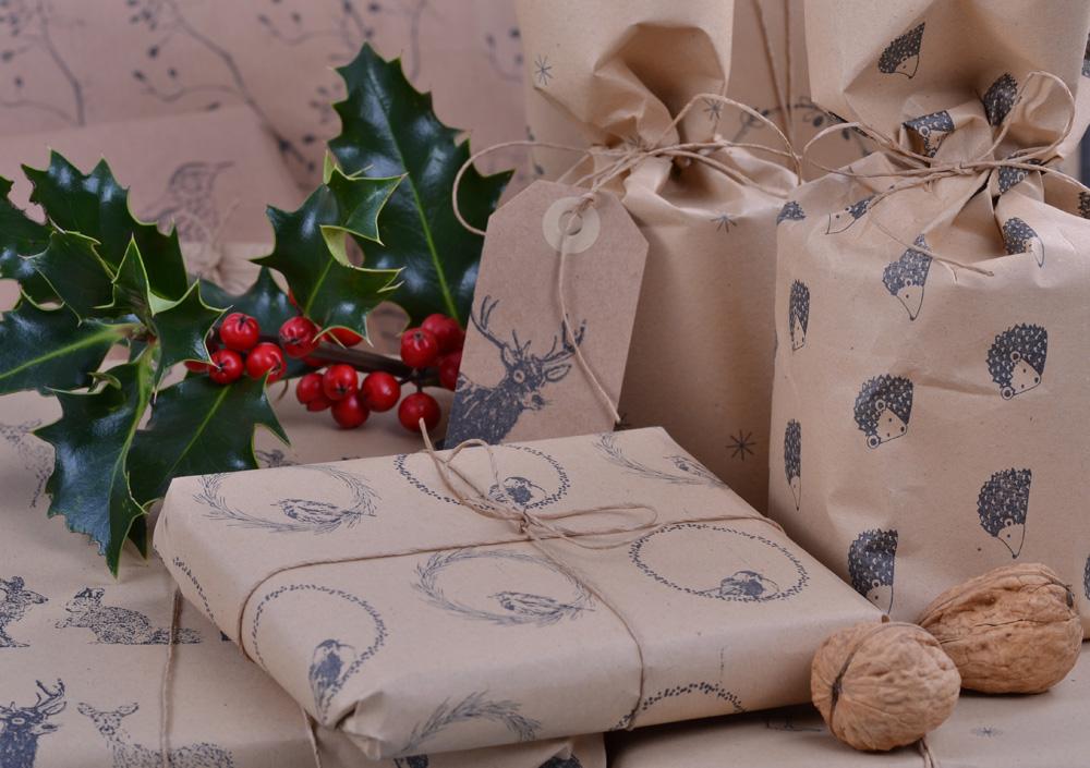 DIY Geschenkpapier zu Weihnachten