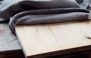 Sweatshirt-Holzbrett