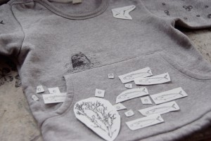 Sweatshirt-Probelegen