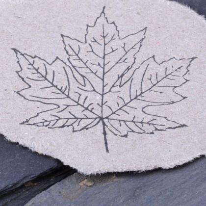Ahornblatt Kontur Stempelabdruck