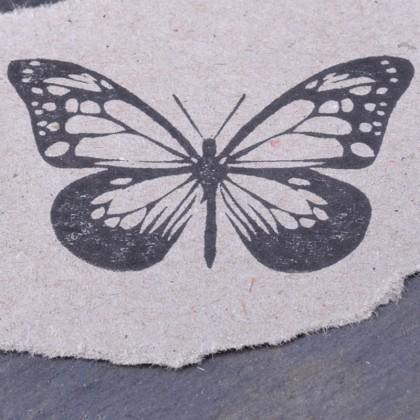 Stempelabdruck Schmetterling