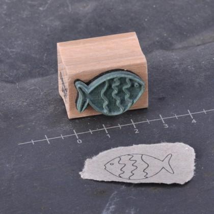 Rueckseite-Fisch klein Welle Kontur