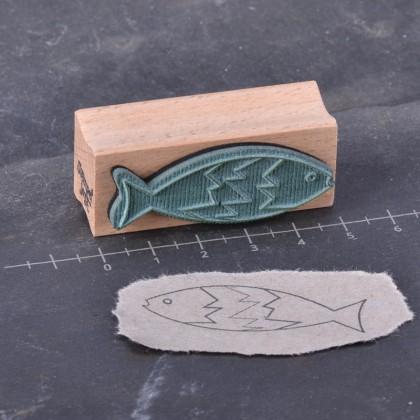 Rueckseite-Fisch Zacke Kontur