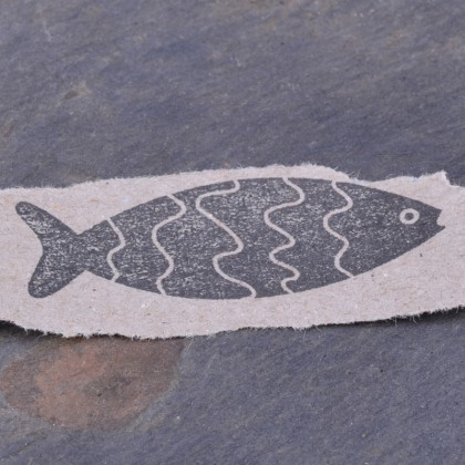 Stempelabdruck-Fisch Welle