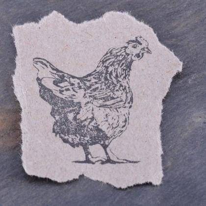 Stempelabdruck-Huhn