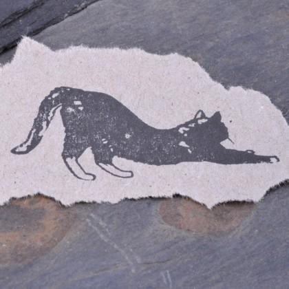 Stempelabdruck-Katze-klein