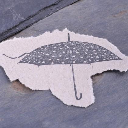 Stempelabdruck-Regenschirm