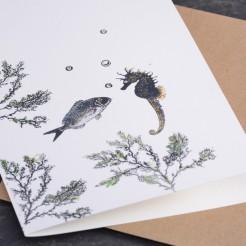 Karte-Dorade-und-Seepferdchen