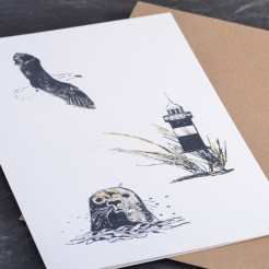 Karte-Seehundkopf