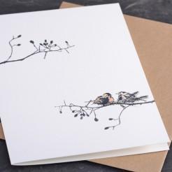 Karte-Vogelpaar-im-Winter