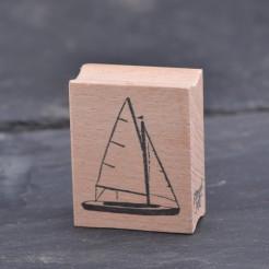 Stempel-Segelboot
