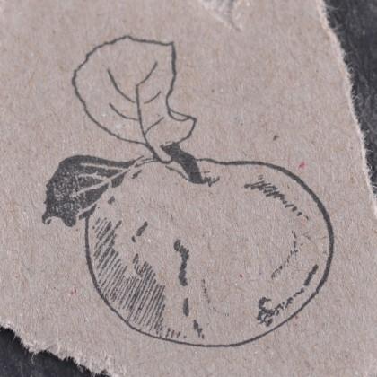Stempelabdruck-Apfel