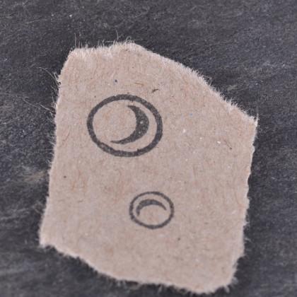 Stempelabdruck-Blubberblasen