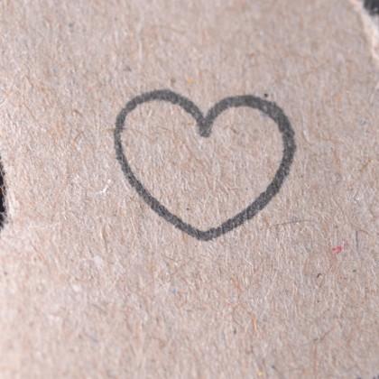 Stempelabdruck-Herzchen-Kontur