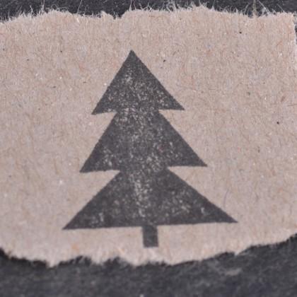 Stempelabdruck-Tannenbaum