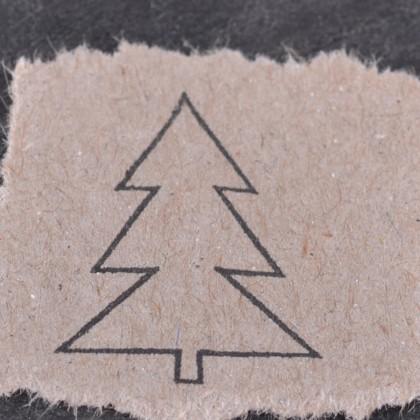 Stempelabdruck-Tannenbaum-Kontur