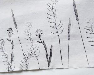 Gräser auf Textil