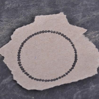 Stempelabdruck-Perlenkranz